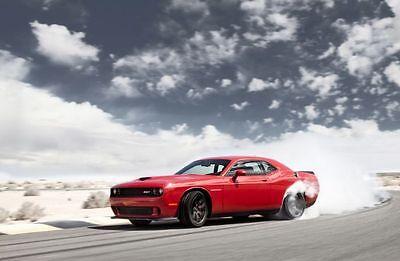 Dodge Challenger Redline Muscle Car Poster #1 Multiple Sizes