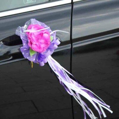 Wedding Car Flower Door Handles Rearview Mirror Decorations Festival