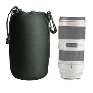 DSLR-camera-Drawstring-Neoprene-Lens-Pouch-Bag-Extra-Large-size-USA-SELLER