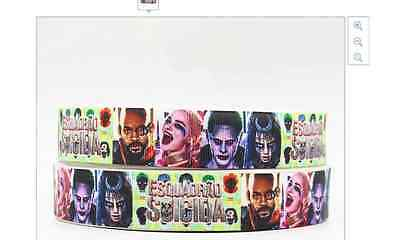New Suicide Squad Ribbon 7/8' 22mm wide