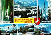 Herzliche Grüsse aus Oberstdorf / Allgäu  ; Ansichtskarte 1983 gel.