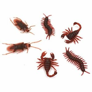 24pk Novelty Scary Prank Insects Centipede Lizard Scorpion Trick Bugs Halloween
