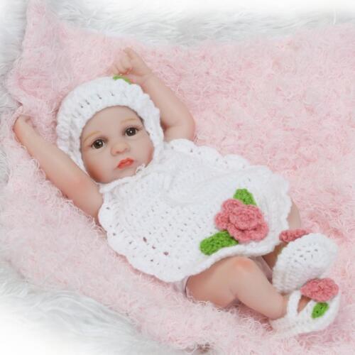10/'/' Lifelike Newborn Baby Dolls Full Body Vinyl Silicone Reborn Baby Doll Gift