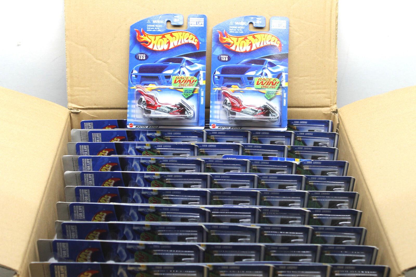 60 pc Hot Wheels Race & Win Series Fright Bike Die Cast Chopper 2001 Mattel NOC