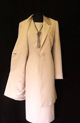 CONDICI Size 16 Dusky Pink Ladies Designer Wedding Dress & Jacket Coat Outfit