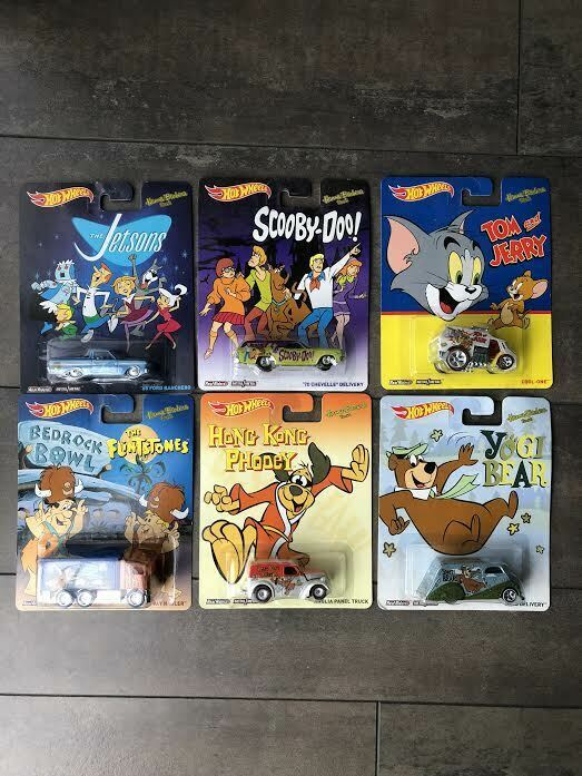 Hot Wheels Pop Culture 2013 Hanna Barbera Complete 6 Car Set