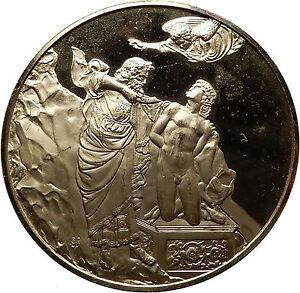 1976-GILT-Silver-Christian-Medal-Florence-Baptistery-SACRIFICE-of-ISAAC-i60774