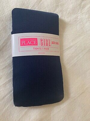 CHILDRENS PLACE BRAND GIRLS TIGHTS NAVY BLUE TIDAL SIZE 8-10 LOT OF 2