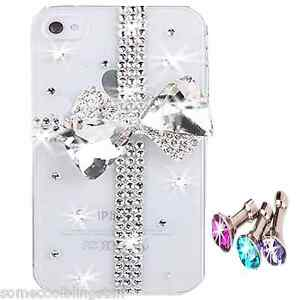 NEW-BLING-3D-BOW-CLEAR-DESIGNER-DELUX-DIAMANTE-STYLISH-CASE-COVER-4-IPHONE-4-4S