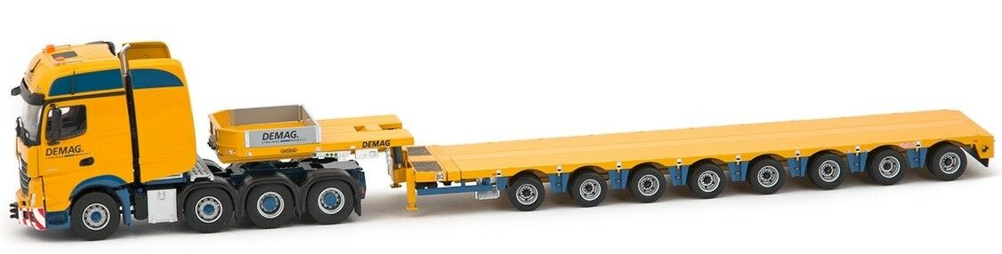IMC33-0092 - Camion 8x4 MERCEDES Actros Gigaspace aux Coloreees DEMAG et remorque