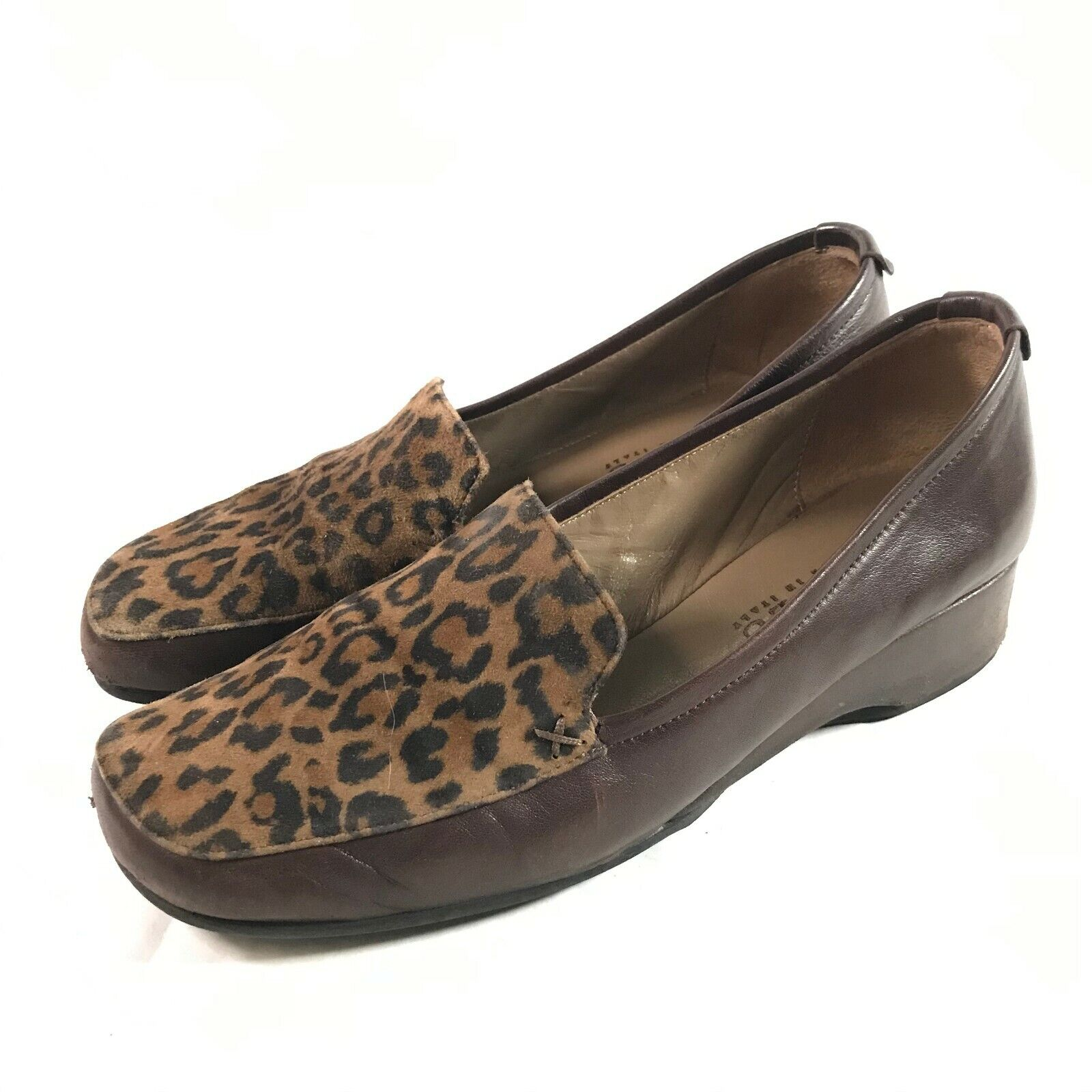 Womens size 37.5 Anyi Lu GABY leopard shoes