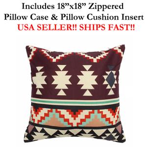 18x18 18 X18 Ethnic Culture Aztec Mexico Mexican Throw Pillow Case Cushion Ebay