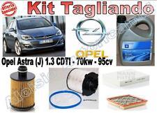 KIT TAGLIANDO OLIO OPEL GM 5W30 + FILTRI OPEL ASTRA J 1.3 CDTI DAL 2009 -->