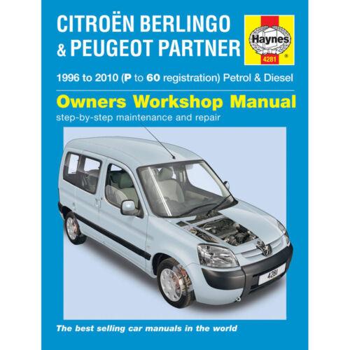 Citroen Berlingo Haynes Manual 1996-10 1.4 1.6 Pet 1.6 1.8 1.9 2.0 Dsl Workshop