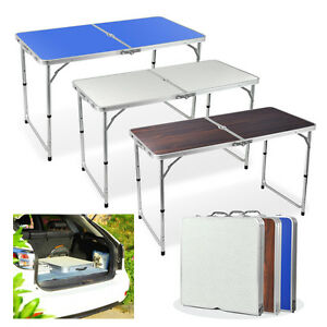 Aluminium folding portable camping picnic dining table - Camping table adjustable height ...