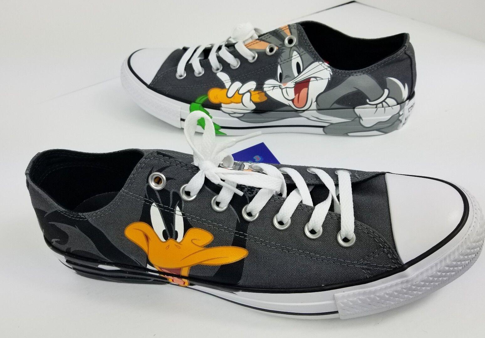 Converse Chuck Taylor All Star CTAS OX Looney Tunes 158892F Sz M12 W14 Grey