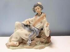 Large Nao Figure - Reclining Japanese Geisha Woman