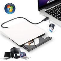 24X USB 3.0 External Slim DVD±RW DVD-ROM CD-RW DVD-RW Read Writer Burner Drive