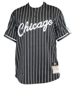 dba35c487 Chicago Bulls Mitchell   Ness Men s Black Pinstriped Mesh Baseball ...