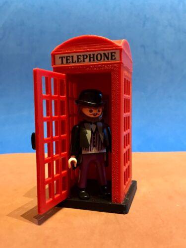 Cabina Telefonica Englische Custom London Phone Booth Playmobil Figur Nicht