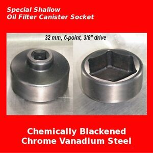 Chevy 32mm Oil Filter Wrench Socket Cartridge Tool Pursuit Cobalt