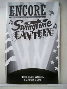 SWINGTIME CANTEEN Playbill ALISON FRASER / EMILY LOESSER / JACKIE SANDERS 1995
