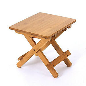 Home Wooden Furniture Foldable Bamboo Footstool Shower