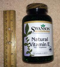 LARGE (250 ct) Natural Vitamin E (100% all-natural d-alpha tocopherols), 400 IU