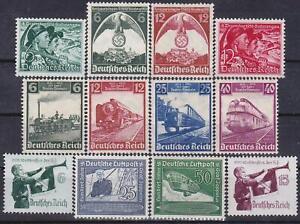 Nazi-3rd-Reich-12-Rarer-Issues-1935-1938-MINT