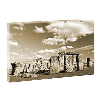 Bilder Keilrahmen Leinwand Landschaft Poster XXL Stonehenge se 100 cm*65 cm 327