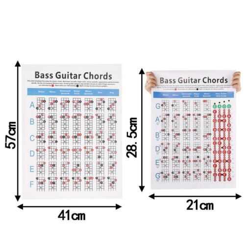 NEW Electric Bass Guitar Chord Chart 4 String NEW Chord Fingering Diagram