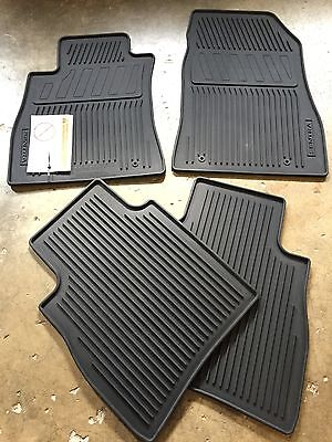 New Oem 2014 2019 Nissan Sentra 4 Pc All Weather Rubber Floor Mats Black Ebay
