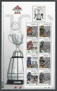 2012-CFL-Football-100th-Grey-Cup-Game-Souvenir-Sheet-First-Day-Cancel