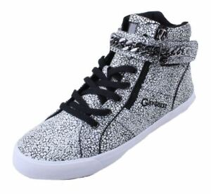 G-by-Guess-Orvan-Womens-White-High-Top-Chain-Sneakers
