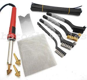 80w iron plastic welding kit tpo teo pp rod mesh auto car boat bumper repair kit ebay. Black Bedroom Furniture Sets. Home Design Ideas