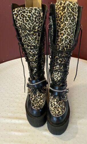 Demonia women's high heel boot animal print size … - image 1
