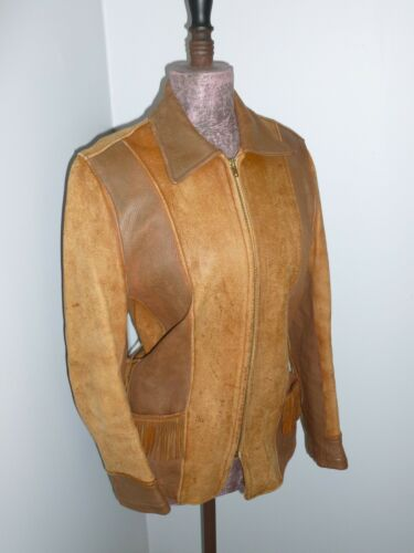Classic Vintage Leather Jacket 1940s 1950s Rancher