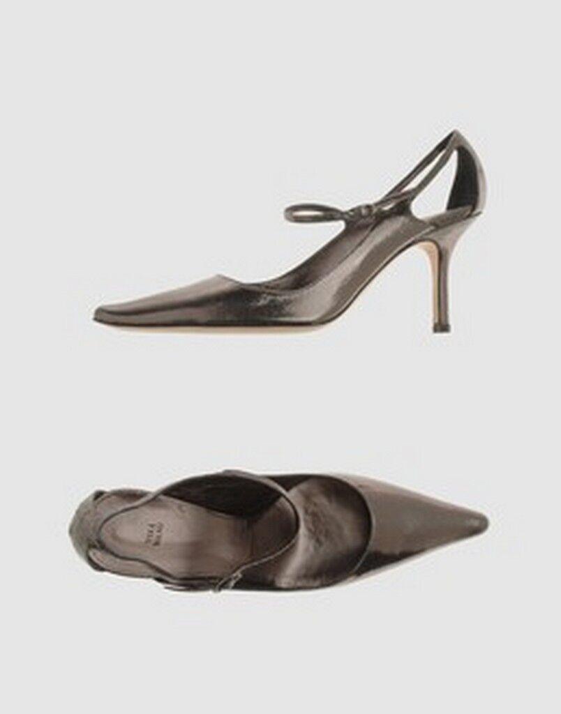 VERA WANG laminated leather pumps scarpe 38 décollétes donna pelle laminata 38 scarpe NIB b9d8ef