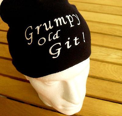 Audace Al Grumpy Old Git Divertente Cappello Beanie Per Il Fai Da Te Scontroso Marito Grandad Regalo Di Pensionamento-