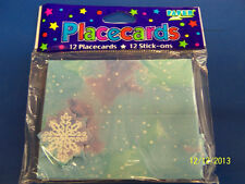 Snowflakes Winter Christmas Holiday Party Decoration Tent Applique Place Cards