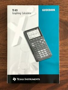 Texas-Instruments-TI-85-Graphing-Calculator-Guide-Book-Instruction-Manual-NEW