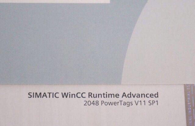 Siemens 6av2104-0fa01-0aa0 Simatic WinCC 2048 PowerTags V11 Sp1