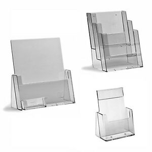 Leaflet Holders Brochure Display Stand, Wall Business Card Dispenser A6 DL A5 A4