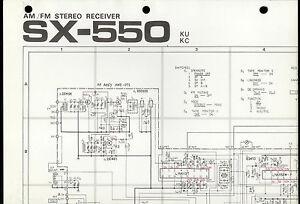 original factory pioneer sx 550 ku kc am fm stereo. Black Bedroom Furniture Sets. Home Design Ideas