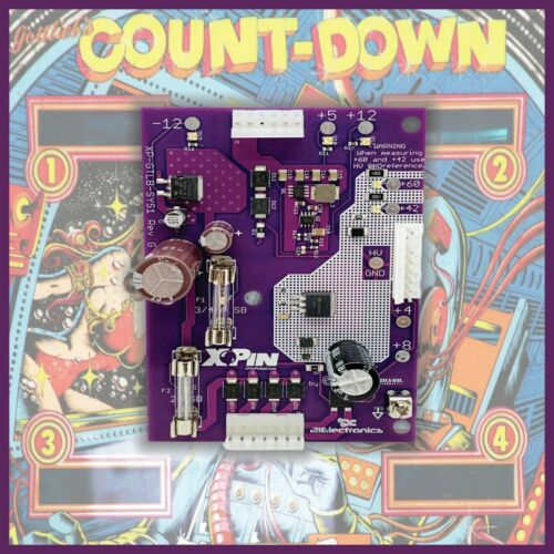 XPin XP-GTLB-SYS1 Power Supply board for Gottlieb Count Down pinball machines