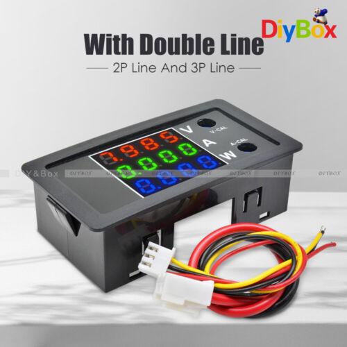 Four High Precision Digital DC 100V 10A 1000W Voltage Current Power Meter