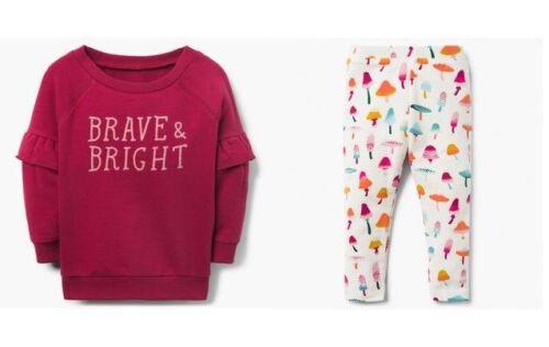 NWT Gymboree Brave /& Bright Sweatshirt Mushroom Leggings Set Baby Toddler Girl