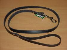 Hundeleine aus echtem Leder 1,25m / 24mm, schwarz
