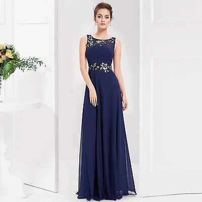 Ever Pretty US Women's Navy Blue Long  Maxi Evening Formal Prom Dress 08531