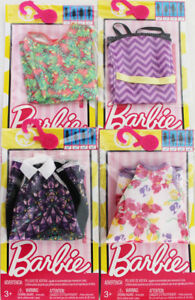 LOT-of-4-Genuine-Mattel-Barbie-Doll-Dolls-Fashion-Clothing-Clothes-Dress-Dresses